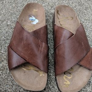 NWOT Sam Edelman Brown Leather Sandals Size 6M
